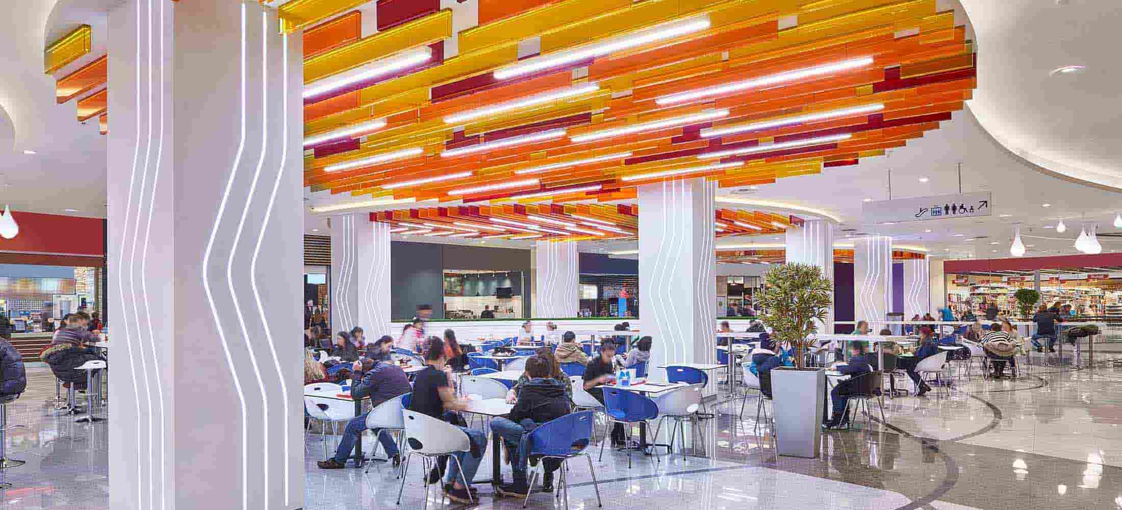 modern food court in shopping mall