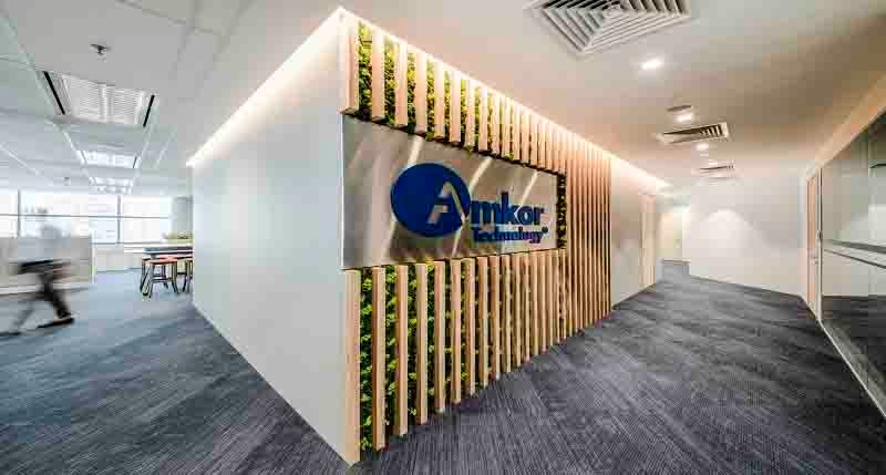 Amkor Technology, Inc. office space designed by JLL